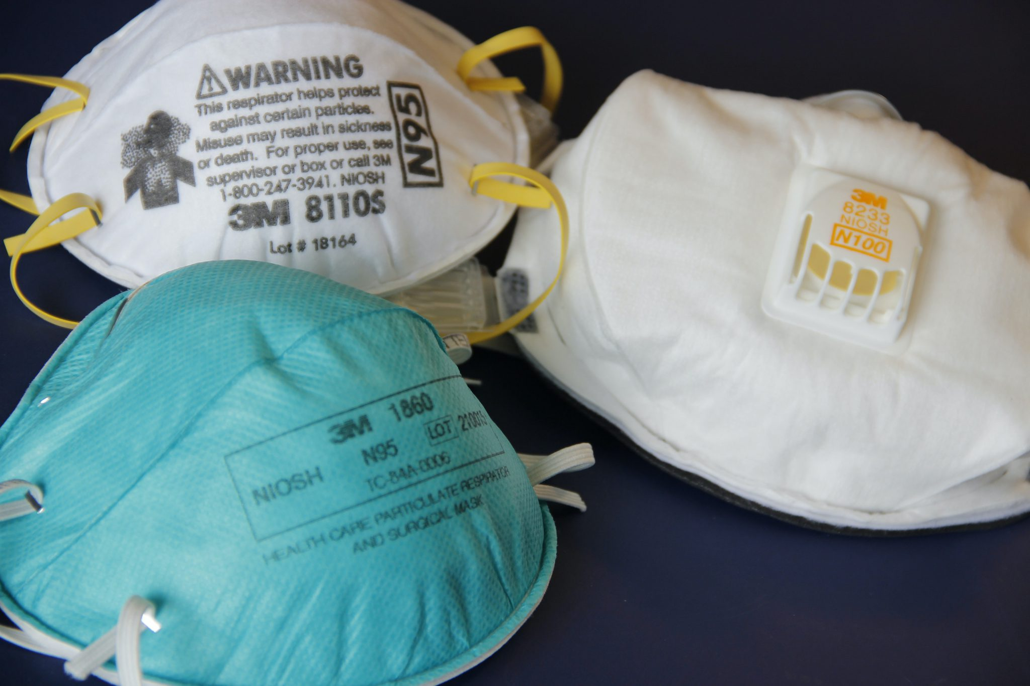 Personal protective equipment like N95 masks (shown here) are in short supply for most departments.