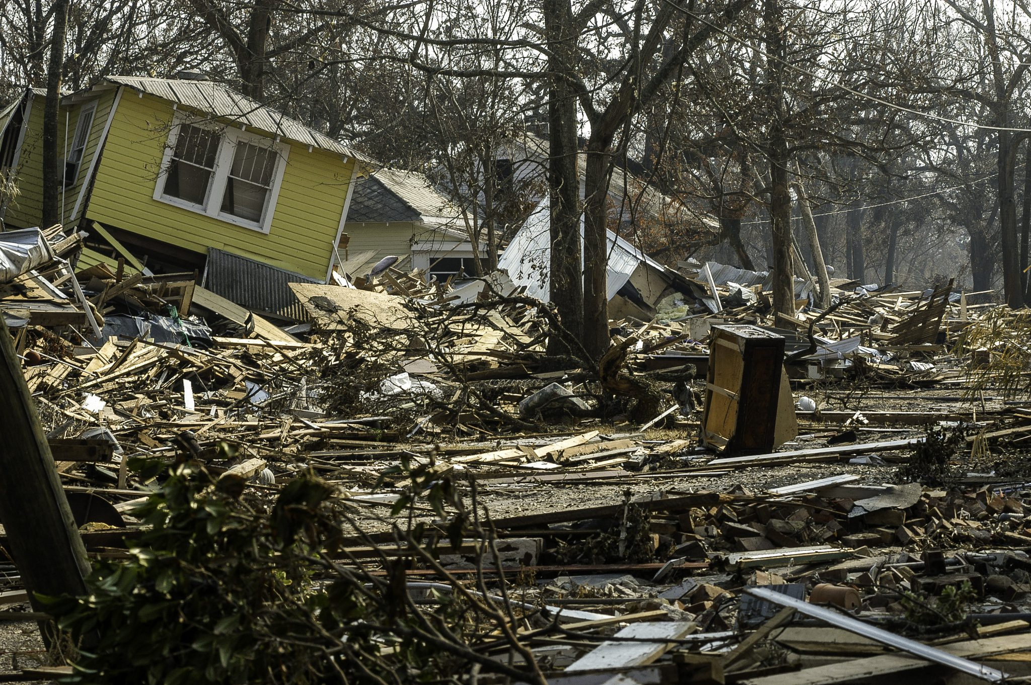 Wreckage from a home destroyed by Hurricane Katrina.