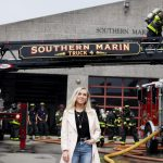 Perimeter CEO and co-founder Bailey Farren stands outside of the Southern Marin Fire Station 4 in Mill Valley, California.